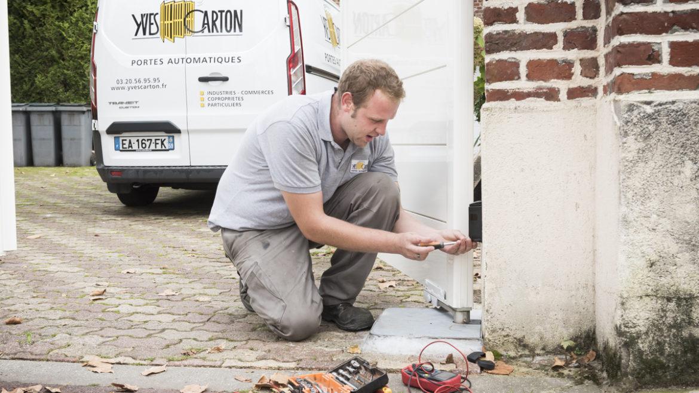 Dépannage-entretien-technicien-YVES-CARTON-PORTAILS-LILLE