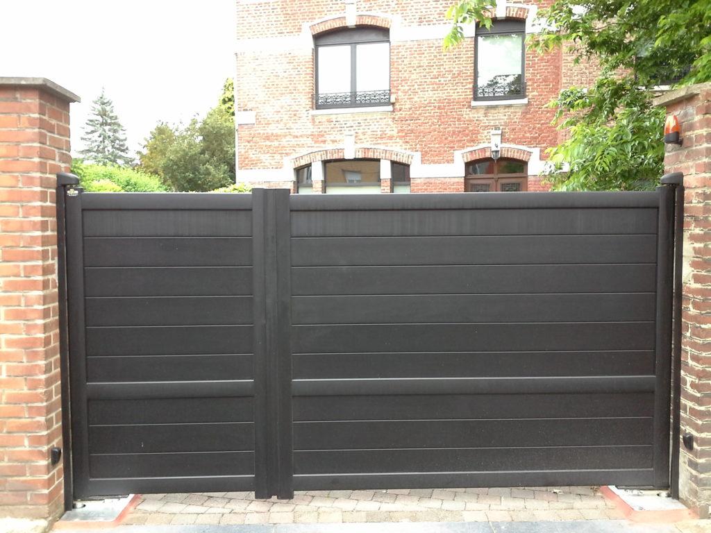 Portail-battant-asymétrique-noir-YVES-CARTON-PORTAILS-LILLE