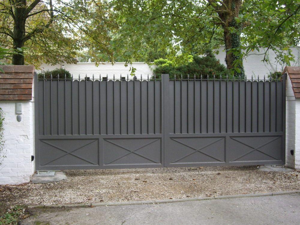 Portail-droit-gris-YVES-CARTON-PORTAILS-LILLE