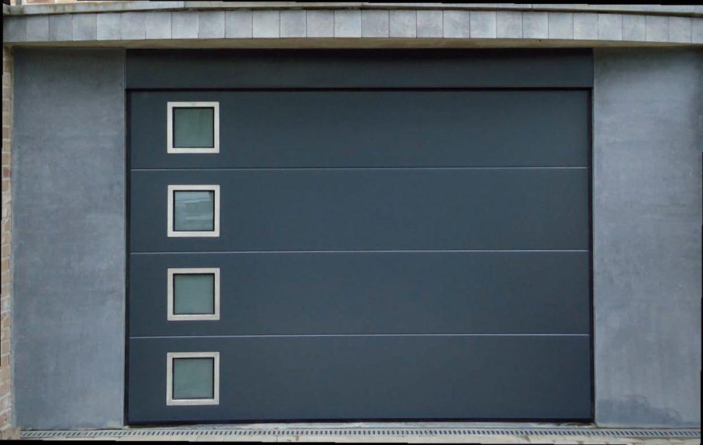 Porte-de-garage-hublots-carré-inox-YVES-CARTON-PORTAILS-LILLE