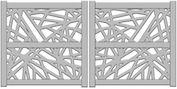 Modèle portails battants Masaya Marcy - Yves Carton