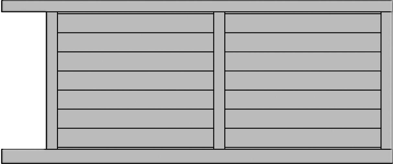 Modèle Aragats de portail coulissant - Yves Portail