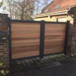 portail battant aluminium et bois - Yves Carton