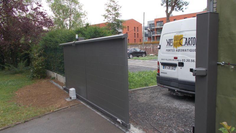 Après installation portail coulissant par Yves carton