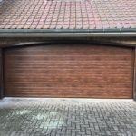 Porte de garage - imitation bois chêne foncé l Yves Carton
