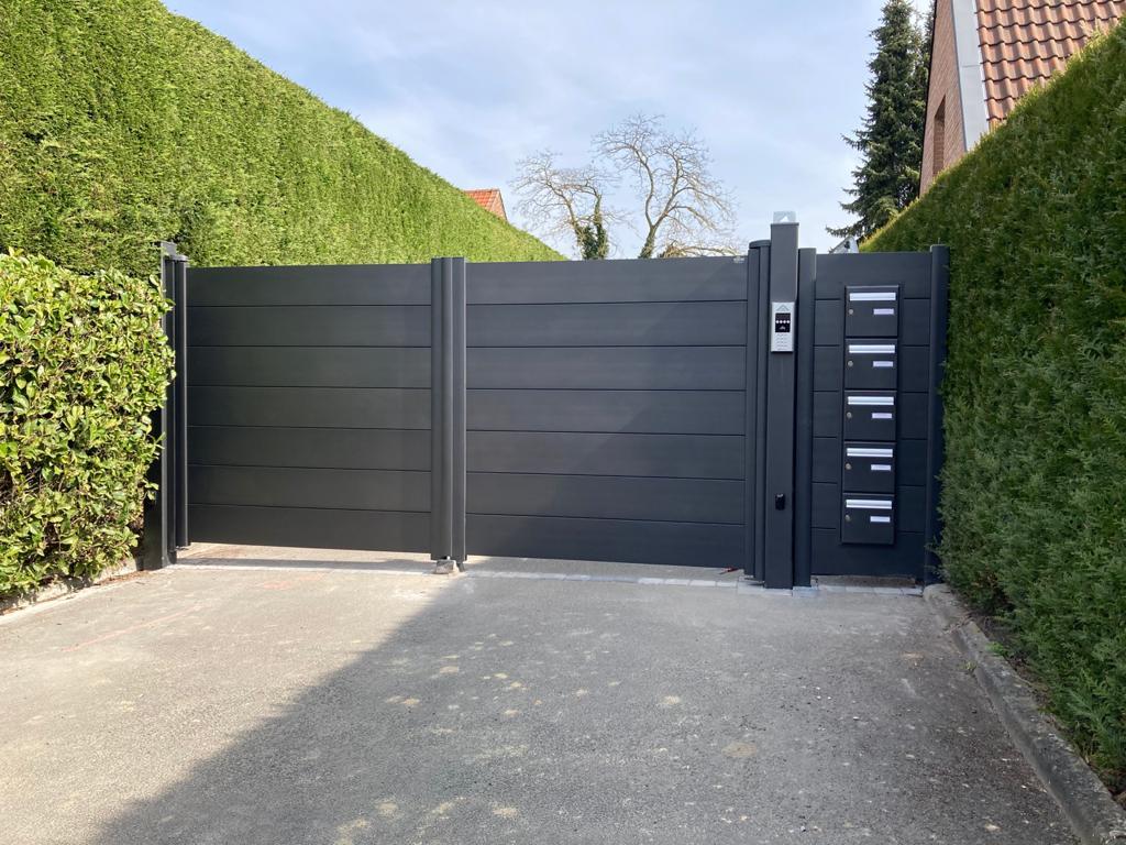 Installation portail battant Marcq en Baroeul l Yves Carton